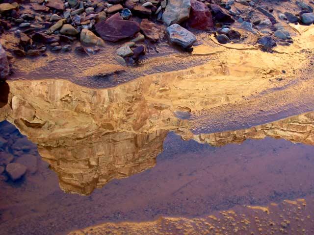 Chute Canyon reflection