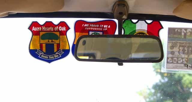 A tro-tro windshield