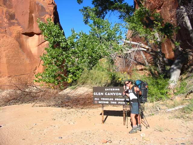 Harris Wash, entering Glen Canyon
