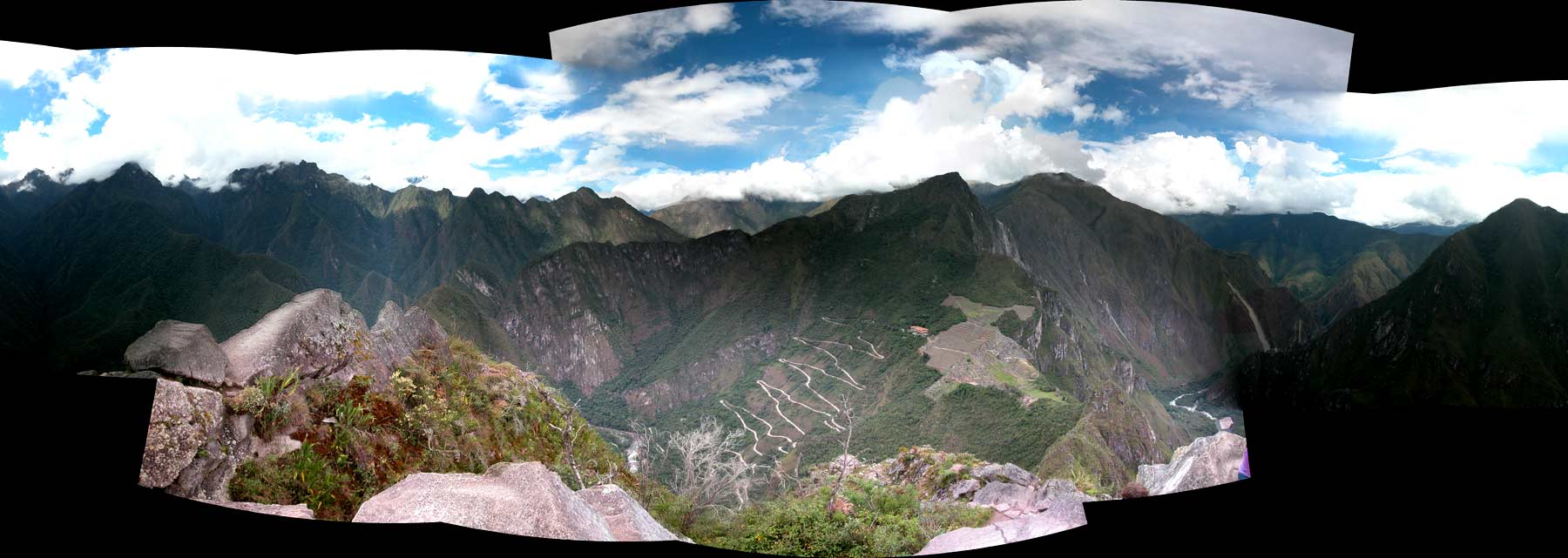 Panoramic of Machu Picchu taken from Huayna Picchu