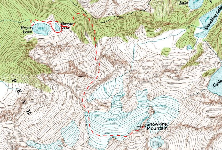 Map Northwest Route