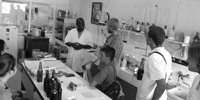 Drinking in the laboratory