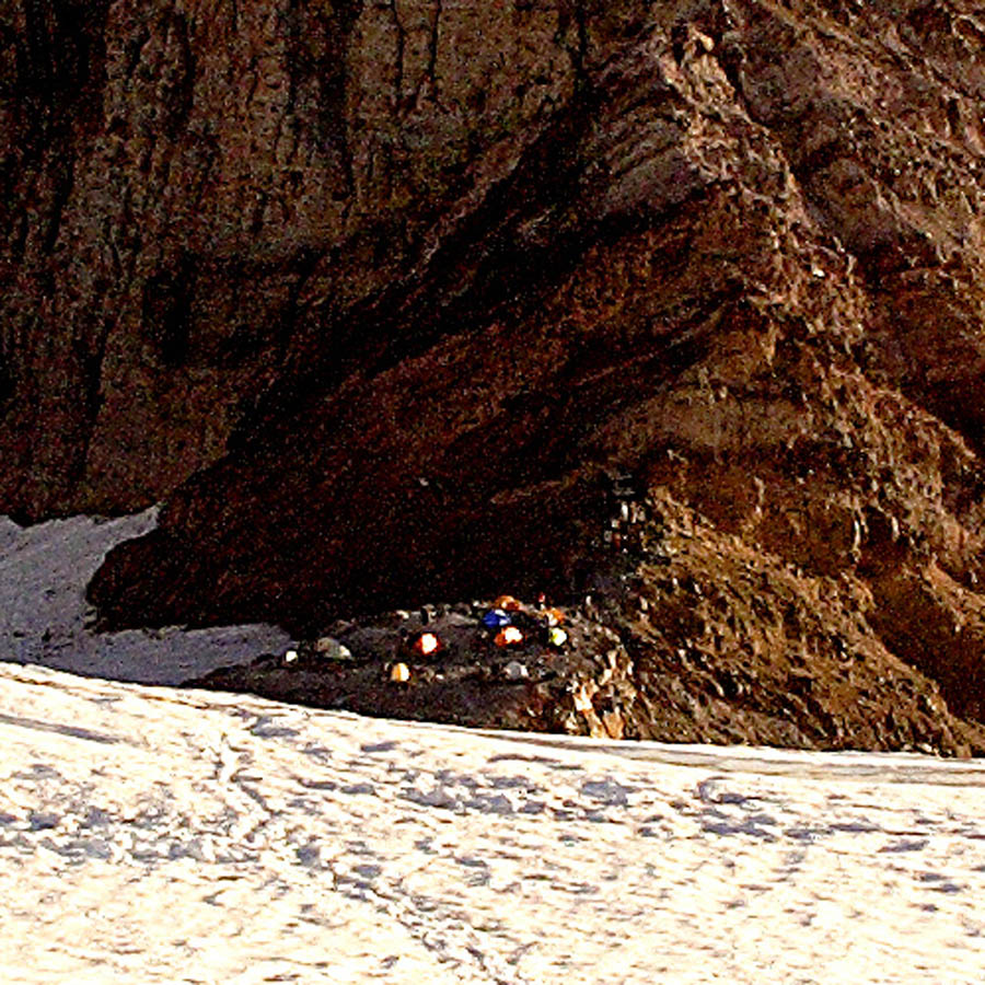 Close-up of Camp Schurman