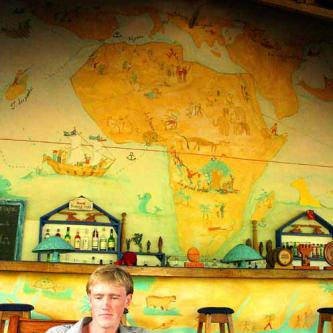 Map in the Awale Plage bar