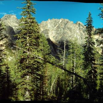 Silver Star peak from camp