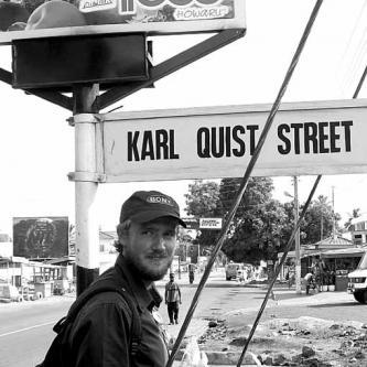 Karl's street in Accra
