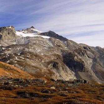 Sahale Peak from lower Sahale Arm