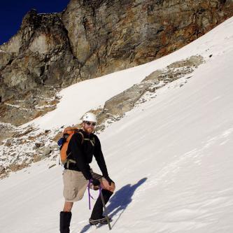 Greg on the Sahale Glacier